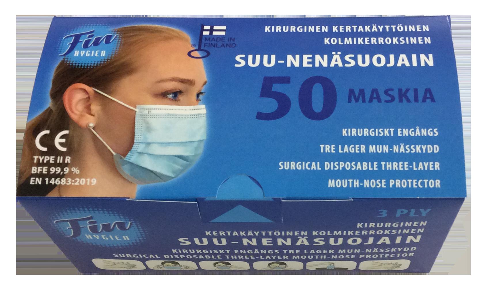 Kirurginen suu ja-nenäsuojain